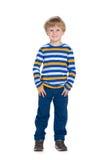 Śliczna mody chłopiec fotografia royalty free