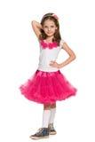 Śliczna mody mała dziewczynka Obrazy Royalty Free