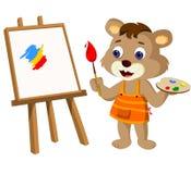 Śliczna Niedźwiadkowego lisiątka ilustracja Obraz Royalty Free