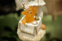 Śliczna niedźwiedź zabawki figurek fotografia Zdjęcie Stock