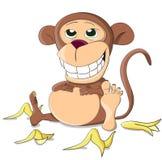 Śliczna niezwykła pełna wektor małpa Zdjęcie Stock