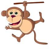 Śliczna niezwykła wektor małpa Obrazy Royalty Free