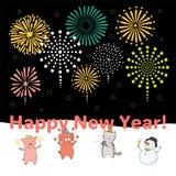 Śliczna nowy rok karta, sztandar ilustracja wektor