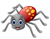 Śliczna pająk kreskówka ilustracji