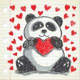 śliczna panda ilustracja wektor