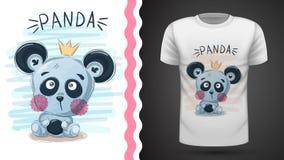 Śliczna panda - pomysł dla druku ilustracji