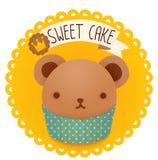 Śliczna piekarni odznaka, etykietka i Zdjęcie Royalty Free