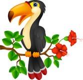 Śliczna pieprzojada ptaka kreskówka royalty ilustracja
