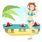 Śliczna Plażowa dziewczyna Obrazy Royalty Free