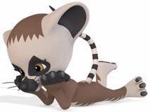 śliczna postać lemur Toon ilustracja wektor