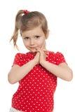 Śliczna preschool dziewczyna przeciw bielowi obrazy royalty free