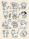 śliczna psia remisu elementu ręka Ilustracja Wektor