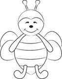 śliczna pszczoły kreskówka Zdjęcie Royalty Free