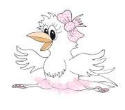 Śliczna ręka rysująca wrona - balerina Kreskówki pojęcia sztuka dla tkaniny, koszulka druku, magazynu, książki, strony internetow Obrazy Royalty Free