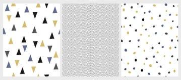 Śliczna ręka Rysujący Abstrakcjonistyczni Geometryczni Nieregularni wektorów wzory ilustracji