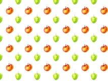 Śliczna ręka rysujący doodle jabłka wzór obraz stock