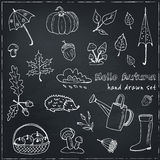 Śliczna ręka rysujący jesień set Obrazy Royalty Free