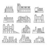 Śliczna ręka rysujący kreskówki doodle fabryki set Zdjęcia Stock