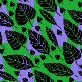 Śliczna ręka rysujący spadków liści ornament Kolorowy wektorowy bezszwowy wzór Zdjęcia Royalty Free