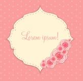 Śliczna rama z Wzrastał kwiatu wektoru ilustrację Fotografia Royalty Free