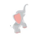 Śliczna słoń kreskówka na białej tło wektoru ilustraci Zdjęcie Royalty Free