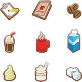 Sklep Z Kawą ikona royalty ilustracja