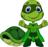 Śliczna super żółw kreskówka Zdjęcia Stock