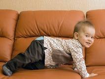 Śliczna szczęśliwa chłopiec Obrazy Royalty Free