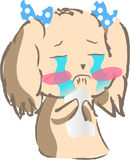 Śliczna szczeniaka psa płaczu ikona Zdjęcie Stock