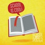 Śliczna szkoła, szkoła wyższa, uniwersytecki plakat - nauka royalty ilustracja