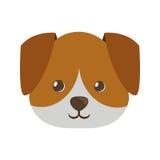 śliczna twarzy doggy zwierzęcia domowego ikona Zdjęcia Royalty Free