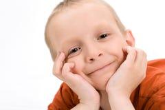 Śliczna uśmiechnięta chłopiec Obraz Royalty Free