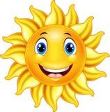 Śliczna uśmiechnięta słońce kreskówka royalty ilustracja