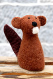 Śliczna wełny groundhog lala Zdjęcie Stock