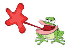 Śliczna wektorowa żaba Zdjęcia Royalty Free