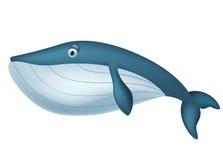 Śliczna wielorybia kreskówka royalty ilustracja