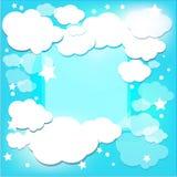 Śliczne dziecięce chmury ilustracja wektor