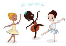 Śliczne małe baleriny royalty ilustracja