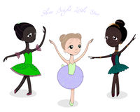 Śliczne małe baleriny ilustracja wektor