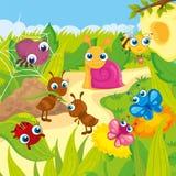 Śliczne Małe zwierzę łąki royalty ilustracja