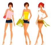Śliczne nastoletnie dziewczyny w lecie odziewają Obrazy Stock