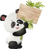 Śliczne panda niedźwiedzia ilustracje Fotografia Royalty Free