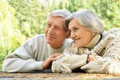 śliczne par starsze osoby Zdjęcia Stock