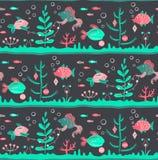 Śliczne ryba dekoruje algi lubią choinki royalty ilustracja