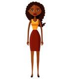 Ślicznego amerykanina afrykańskiego pochodzenia biznesowa kobieta Obraz Stock