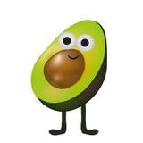 Ślicznego Avocado kreskówki wektorowy uśmiech z nogami Obraz Stock