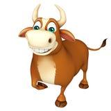 Ślicznego byka śmieszny postać z kreskówki Obraz Royalty Free