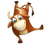 Ślicznego byka śmieszny postać z kreskówki Obrazy Stock