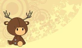 Ślicznego dziecka kreskówki jeleni tło Zdjęcia Stock
