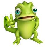Ślicznego kameleonu śmieszny postać z kreskówki ilustracja wektor